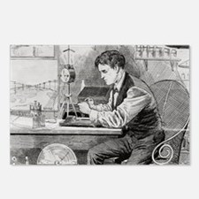 Thomas Edison, US invento Postcards (Package of 8)