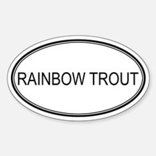 Oval Design: RAINBOW TROUT Oval Decal