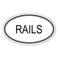 Oval Design: RAILS Oval Decal