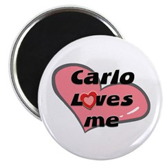 carlo loves me Magnet