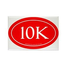 10K Running Achievement Red Rectangle Magnet
