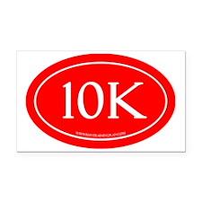 10K Running Achievement Red Rectangle Car Magnet