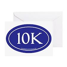 10K Running Achievement Blue Greeting Card