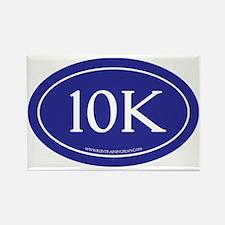 10K Running Achievement Blue Rectangle Magnet