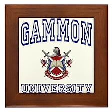 GAMMON University Framed Tile