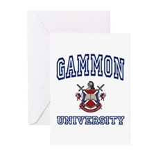 GAMMON University Greeting Cards (Pk of 10)