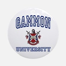 GAMMON University Ornament (Round)