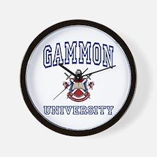 GAMMON University Wall Clock