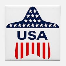 USA Star Tile Coaster