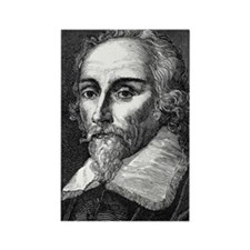 William Harvey, English physician Rectangle Magnet