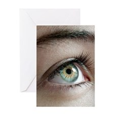 Woman's eye Greeting Card