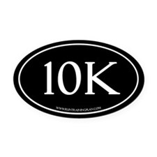 10K Running Achievement Black Oval Car Magnet