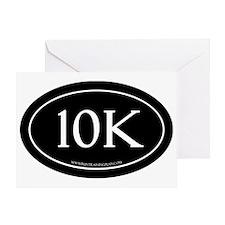 10K Running Achievement Black Greeting Card