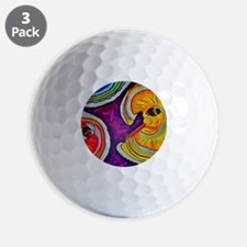 Circles on the Ground Golf Ball