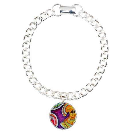 Circles on the Ground Charm Bracelet, One Charm