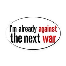 againstwaroval Oval Car Magnet