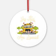 School bus driver Round Ornament