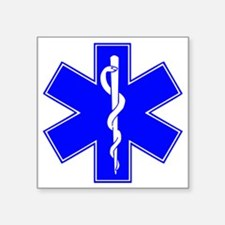 "ems star of life Square Sticker 3"" x 3"""