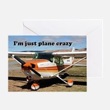 I'm just plane crazy: high wing Greeting Card