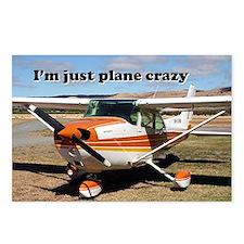 I'm just plane crazy: hig Postcards (Package of 8)