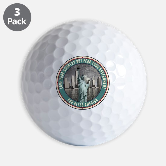 Fear Your Government Golf Ball