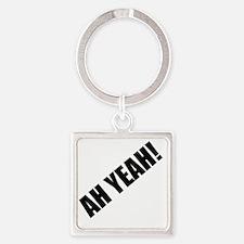 AH YEAH! Square Keychain