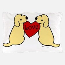 Twin Yellow Labs Pillow Case