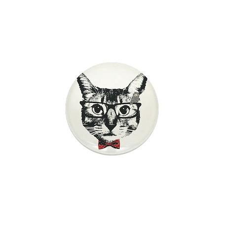 Cat with glasses Mini Button
