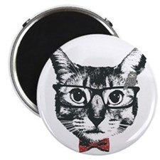 Cat with glasses Magnet