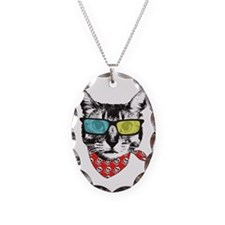 Cat with sunglass Necklace