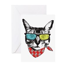 Cat with sunglass Greeting Card