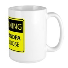 Warning: New Grandpa on the Loose Ceramic Mugs