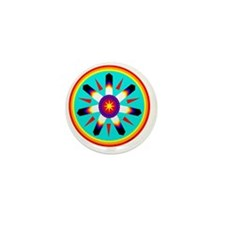 EAGLE FEATHER MEDALLION Mini Button