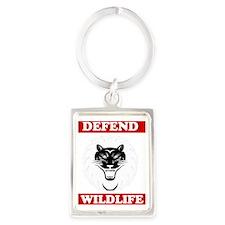 Defend Wildlife Portrait Keychain