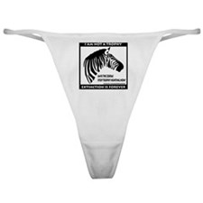 SAVE THE ZEBRA! Classic Thong