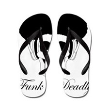 Funk is Deadly Afro skull Flip Flops