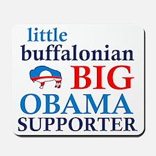 little buffalonian Big Obama Supporter Mousepad