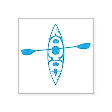 "Kayak tee Square Sticker 3"" x 3"""