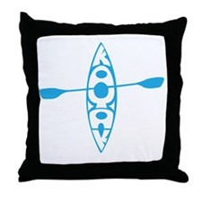 Kayak tee Throw Pillow