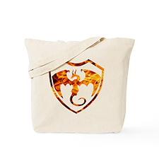 Flaming dragon Tote Bag