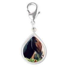 Paint Pony Barbie Rosa Silver Teardrop Charm