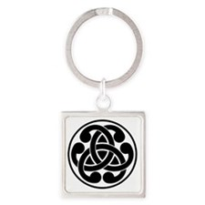 Celtic Torque Square Keychain