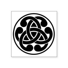 "Celtic Torque Square Sticker 3"" x 3"""