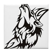Tribal Wolf 3 Tile Coaster