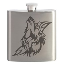 Tribal Wolf 3 Flask
