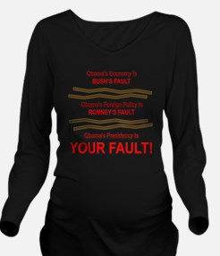 Your Fault Long Sleeve Maternity T-Shirt