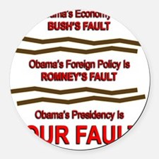 Your Fault Round Car Magnet