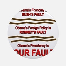 Your Fault Round Ornament