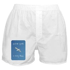 perfect speed is being there - handwr Boxer Shorts
