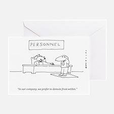 DOG DEMOTION Greeting Card